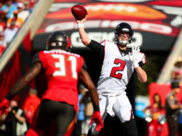 NFC South quarterback rankings - Matt Ryan drops back to pass against the Tampa Bay Buccaneers