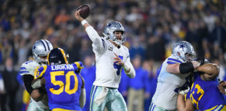 NFC East quarterback rankings - Dak Prescott passes against the Rams