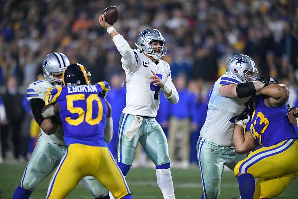 NFC East quarterback rankings - Dak Prescott passes against the Rams
