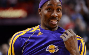 Dwight Howard on the Los Angeles Lakers in 2013