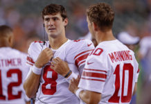 Daniel Jones and Eli Manning