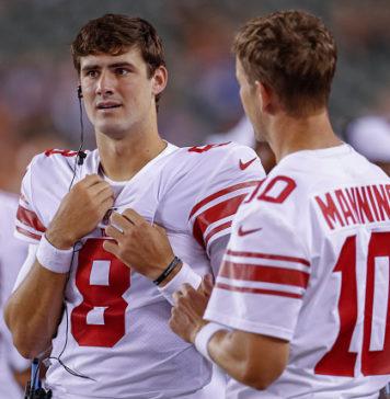 Daniel Jones and Eli Manning